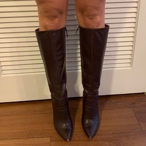 NINE WEST Leather Knee Boots